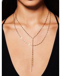 Lana Jewelry Mega Gloss Blake 14k Yellow Duo Lariat Necklace - Metallic