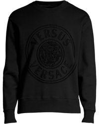 7cab9262 Versus - Men's Lion Head Cotton Sweatshirt - Black - Size Large - Lyst