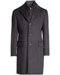 Corneliani Char Id Topcoat - Gray
