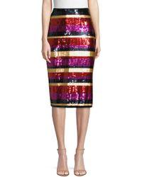 Trina Turk - Sequin Striped Cava Skirt - Lyst