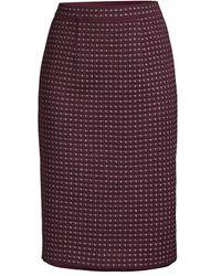 Misook Tweed Knit Skirt - Purple