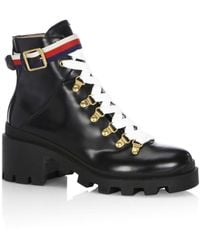 Gucci Ankle Boot With Sylvie Web - Black