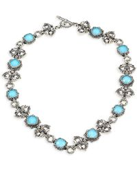 Konstantino - Aegean Turquoise Doublet & Sterling Silver Necklace - Lyst