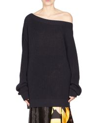 Dries Van Noten - Off-shoulder Knit Sweater - Lyst