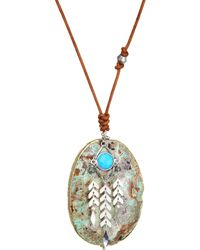 Chan Luu - Turquoise Mix Stone Necklace - Lyst