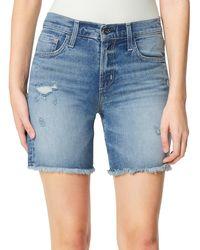 Joe's Jeans The Frayed Bermuda Shorts - Blue