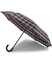 Burberry - Trafalgar Mini Check Umbrella - Lyst
