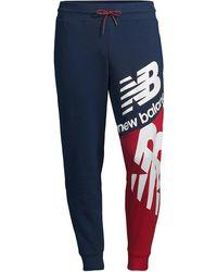New Balance Nb Athletics Splice Track Pants - Blue