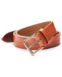 Shinola Metallic Buckle Leather Belt - Brown