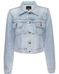 Hudson Jeans Lola Shrunken Denim Trucker Jacket - Blue