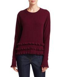 Cinq À Sept - Adiella Ruffled Cashmere Sweater - Lyst
