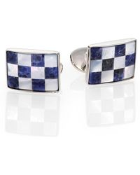 David Donahue - Sterling Silver, Sodalite & Mother Of Pearl Cuff Links - Lyst