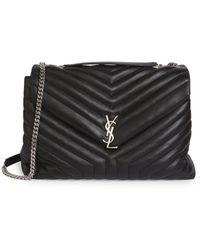 Saint Laurent - Large Loulou Matelassé Leather Shoulder Bag - Lyst