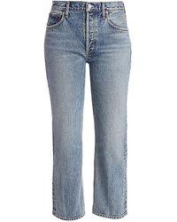Agolde Ripley Mid-rise Straight-leg Jeans - Blue