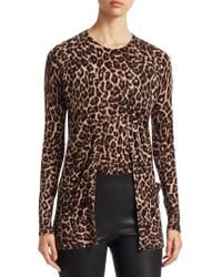 Saks Fifth Avenue - Collection Animal Print Cashmere Cardigan - Lyst