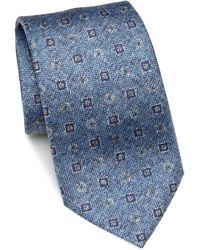 Saks Fifth Avenue - Medallion Silk Tie - Lyst