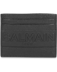 Balmain - Textured Logo Cardholder - Lyst