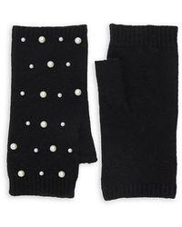 Carolina Amato Scatter Fingerless Gloves - Black