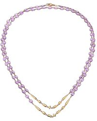 Etho Maria 18k Rose Gold & Amethyst Beaded Double-strand Long Necklace - Multicolor
