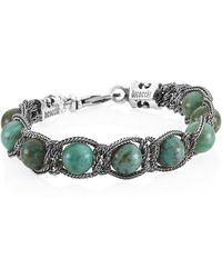 Emanuele Bicocchi - Green Tiger's Eye & Sterling Silver Beaded Bracelet - Lyst