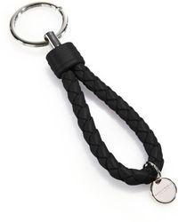 Bottega Veneta - Intrecciato Leather Keychain - Lyst