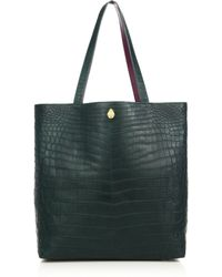 Ethan K - Sands Reversible Crocodile Tote - Lyst