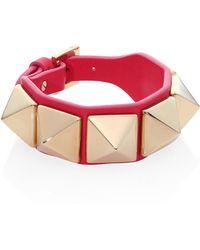 Valentino   Rockstud Large Leather Bracelet   Lyst