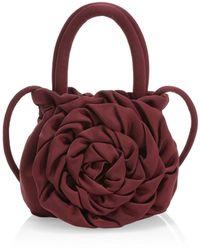 STAUD - Rose Satin Top Handle Bag - Lyst