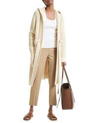 Michael Kors Shaker-knit Hooded Cashmere Cardigan - Natural