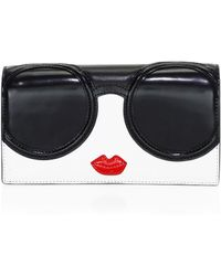 Alice + Olivia - Lisa Stacey Face Leather Wallet - Lyst