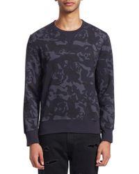 Alexander McQueen | Camouflage Cotton Sweatshirt | Lyst