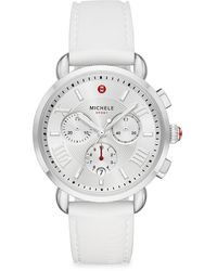 Michele Sport Sail Stainless Steel & Silicone Strap Chronograph Watch - Multicolor