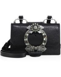 Miu Miu - Crystal-embellished Madras Leather Shoulder Bag - Lyst