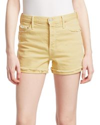 Mother - Frayed Cuff Shorts - Lyst