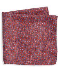 Saks Fifth Avenue - Collection Mini Pebble Print Pocket Square - Lyst