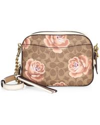 COACH - Campus 23 Coated Canvas Signature Rose Backpack - Lyst