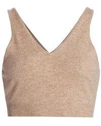 FRAME Cashmere & Wool Crop Tank - Multicolor