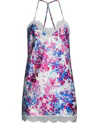 In Bloom Brentwood Floral Chemise - Blue