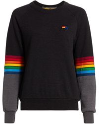 Aviator Nation - Rainbow Stitched Pullover - Lyst