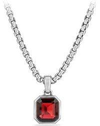 David Yurman - The Fortune Sterling Silver & Garnet Faceted Amulet - Lyst