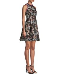 Laundry by Shelli Segal - Brocade Fit-&-flare Dress - Lyst