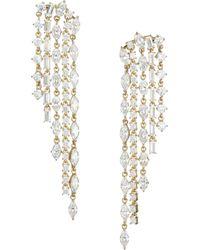 Adriana Orsini Gia 18k Goldplated Silver Crystal Waterfall Drop Earrings - Metallic
