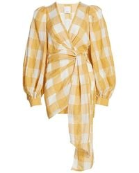 Acler - Sutherland Checkered Wrap Dress - Lyst
