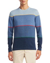 Saks Fifth Avenue - Collection Degrade Stripes Cotton Sweater - Lyst