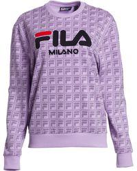 7f3c63dcfc Fila - Runway Milano Logo Jacquard Sweatshirt - Lyst