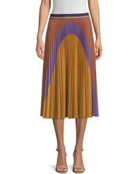 Beatrice B. - Colorblock Pleated Midi Skirt - Lyst