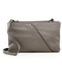 Christopher Kon | Zipper-trimmed Topstitched Leather Crossbody Bag | Lyst