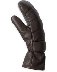 Nanushka Melaka Vegan Leather Mittens - Black