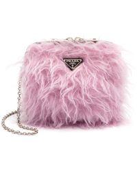 Prada Furry Mini Bag - Pink