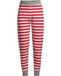 Sleepy Jones - Women's Helen Cotton Stripe Leggings - Red - Lyst
